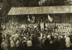 Tuutarin viimeiset laulujuhlat Äijänmäellä vuonna 1917.
