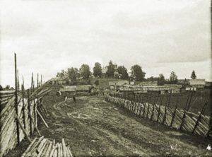Vuoleen kirkonkylä vuonna 1911.