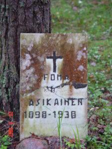 Muistokirjoituksia Levasovan hautaumaalla