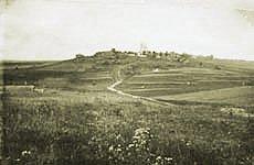 Inkereen kirkonkylä 1930-luvulla.
