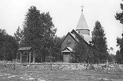 Novasolkan kirkko vuonna 1911