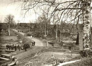 Tihkovitsan kylä Koprinassa vuonna 1942