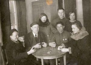 Korttirinki Inkereellä sodan aikana.