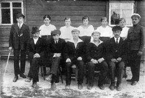 Nuoria Pienellä Autiolla kesällä 1922.