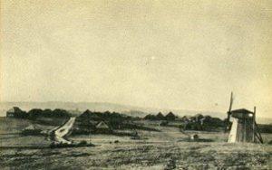 Venakontsan kylä Soikkolanniemellä 1900-luvun alussa.