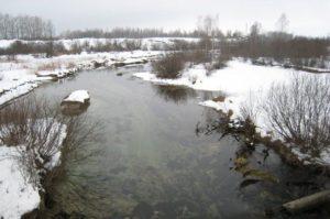 Inkerejoki huhtikuussa 2008.