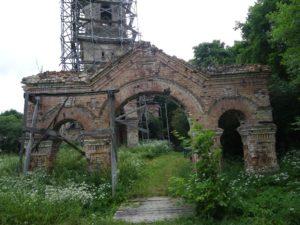 Novasolkan kirkon rauniot