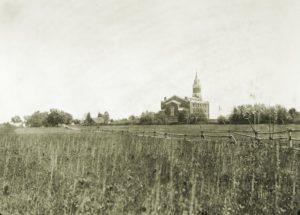 Toksovan kirkko 1900-luvun alkuvuosina.