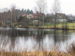 Siikalan kylän ja järvi.