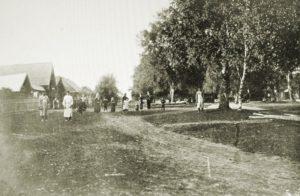 Mujan kylänraitti vuonna 1911.