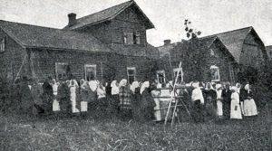 Kirjasalon asukkaita 1920.